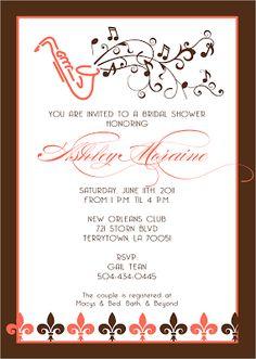 Mardi gras mirror invitations mirror signatures by sarah jazz bridal shower invite for tiffany stopboris Choice Image