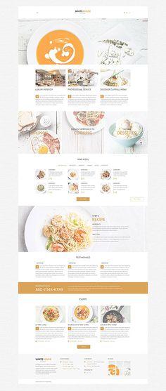 Gourmet Restaurant Website #WordPress #template. #themes #business #responsive