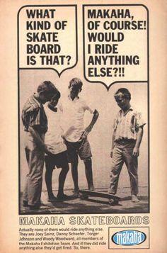 makaha skateboards old vintage poster