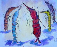 Shrimp Cocktail by Adrian Chu Redmond Oil ~ 12 x 12
