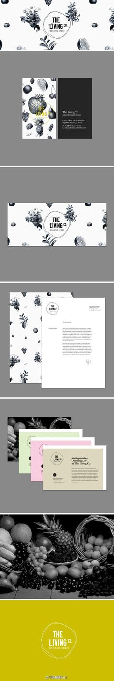 The Living Co. / Logo / branding / identity / brochure / packaging / menu / black and white / yellow / classy and clean Logo Design, Poster Design, Brand Identity Design, Menu Design, Graphic Design Typography, Brand Design, Layout Design, Branding And Packaging, Logo Branding