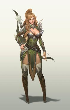 f Female Elf Archer: Cyberdelics Fantasy Warrior, Fantasy Girl, Chica Fantasy, Warrior Girl, Fantasy Rpg, Fantasy Women, Medieval Fantasy, Fantasy Artwork, Character Design Cartoon