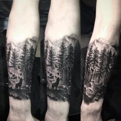 Los tatuajes de bosques son diseños que siempre me han gustado e impactado cuando los