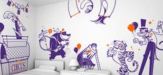 happy circus :: children's wall decals on Behance