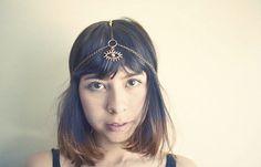 Third Eye Chakra Beaded Head Chain by francisfrank on Etsy, $20.00