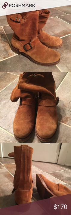 Suede FRYE boots 8 1/2, EUC mid Natalie engineer Suede FRYE boots 8 1/2, EUC mid Natalie engineer (I think this is the correct name.) great boots, paid about $300. Frye Shoes Ankle Boots & Booties