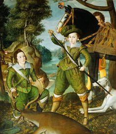 ab. 1605 Robert Peake - Henry, Prince of Wales with Robert Devereux, 3rd Earl of…