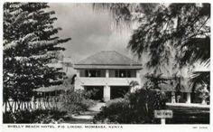 Shelly Beach Hotel Mombasa 1950s
