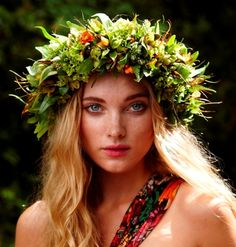 with love in her eyes and flowers in her hair