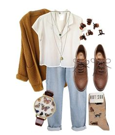 """""""Untitled #67"""" by flowerpowerxx ❤ liked on Polyvore featuring agnès b., H&M, HOT SOX and Olivia Burton"""