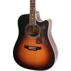 Epiphone DR-500MCE Dreadnought Acoustic Electric Guitar, Vintage Sunburst $ 599.00 Acoustic-Electric Guitars Product Features Quality vintage-style Grover Sta-Tite 18:1 ratio machine heads Imitation tortoise pickguard, nickel hardware Bound body, neck and headstock NanoFlex uses unique flexible sensing material featuring integrated active electronics NanoMag has 3 Samarian-Cobalt magnets and integrated active circuit to capture a range of harmonics Acoustic-Electric..