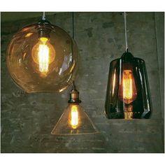Glazen hanglamp rechthoek   Praxis