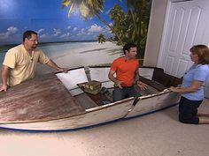 How to make a bed from an old boat!