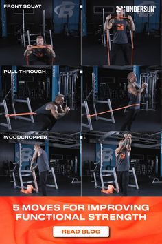 It's time to start asking more of your strength-training routine. Functional strength exercises help you perform better in everyday tasks and athletic activities. 💯 These exercises are great for improving functional strength: 👊 Front squat 👊 Pull-through 👊 Woodchopper And more on the blog! Strength Workout, Strength Training, Front Squat, Pull Through, Build Muscle, Squats, Resistance Bands, Athletic, Activities