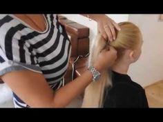 Zakładanie kitki, kucyka, przedłużane włosy| hair extensions, ponytail