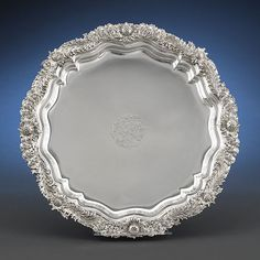 Antique Floral Tray, Sterling Silver Chrysanthemum Tray, Tiffany & Co. ~ M.S. Rau Antiques