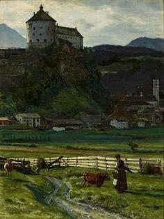 Aleksander Gierymski, view of the castle Kufstein on ArtStack #aleksander-gierymski #art