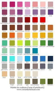 Nuancier couleurs peintures p bo d co pebeo id es - Palette de couleurs peinture ...