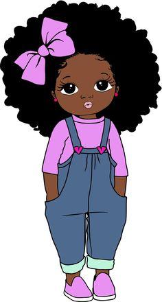 Black Love Art, Black Girl Art, Art Girl, Drawings Of Black Girls, Black Art Painting, Black Girl Cartoon, Black African American, Magic Art, Baby Art