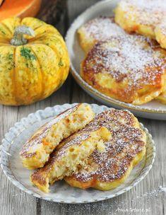 Dyniowe racuchy drożdżowe.  Pumpkin yeast pancakes recipe. Fall Recipes, Good Food, Food And Drink, Pumpkin, Tasty, Dishes, Cooking, Breakfast, Healthy