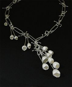 Pod necklace by Maggie Bergman - Metalclay and Sterling silver