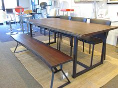 Papillion dining table in distressed cherry. Was $1,099 Now $899 on scan basics  http://scanhome.com/basics/social-gallery/img-7159