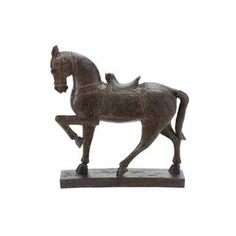 Polystone 15-inch High x 14-inch Wide Horse Sculpture | Overstock.com Shopping - The Best Deals on Statues & Sculptures
