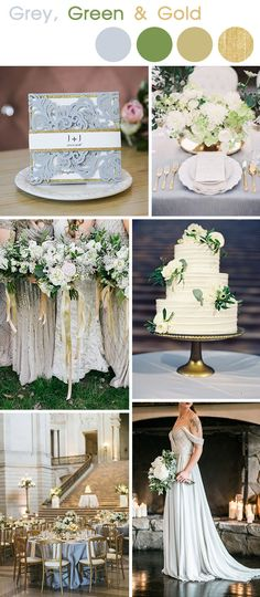 grey and gold srping and summer wedding colors