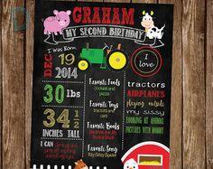 Farm Birthday Poster - Farm Birthday Chalkboard - Farm Birthday Party - Farm Birthday Decor - Farmyard Party - Farmyard Birthday Decor