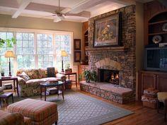 Traditional Master Bedroom With Brown Walls, Pendant Light, Wood Floors & White Rug : Designers' Portfolio : HGTV - Home & Garden Television