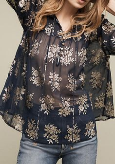 Shimmered Alodia Top | Anthropologie