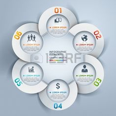 Modern business circle infographic. #origami style