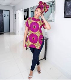 Super Stylish Ankara Tops for Gorgeous Ladies African Print Clothing, African Print Dresses, African Fashion Dresses, African Attire, African Wear, African Dress, African Style, African Clothes, Ankara Fashion