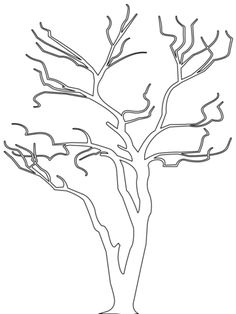 Bare Tree Outline coloring page from Trees & Leaves category. Select from 20946 printable crafts of cartoons, nature, animals, Bible and many more. Tree Outline, Flower Outline, Tree Coloring Page, Colouring Pages, Tree Patterns, Applique Patterns, Outline Drawings, Cartoon Drawings, Tree Templates