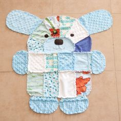 PDF+Pattern+for+Puppy+shaped+rag+quilt+by+greencastle+on+Etsy,+$9.50