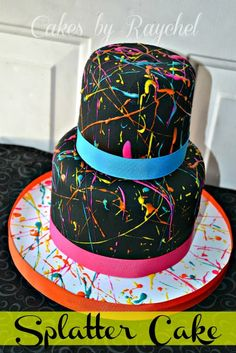 Paint Splatter Cake. DIY TIPS