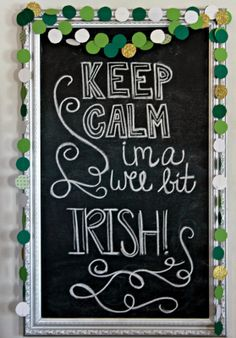 St. Patrick's Day Chalkboard and Garland