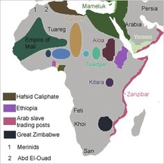 Ancient African Kingdoms | ... Africa - simplified map of the main states, kingdoms and empires