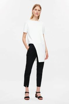 COS image 6 of Asymmetric hem top in White
