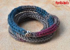 Wickelarmband aus Strick von Nordschatz auf DaWanda.com