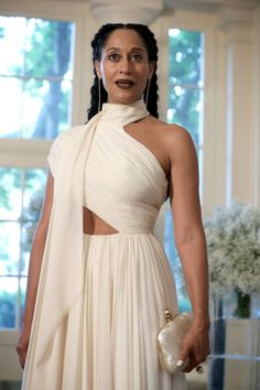 Tracee Ellis Ross Wore Cornrow Extensions to a White House State Dinner and Slayed (Black Girl with Long Hair) Tracey Ellis, Tracee Ellis Ross, Festa Party, Black Is Beautiful, Look Fashion, Dress To Impress, Celebrity Style, Dress Up, Celebs