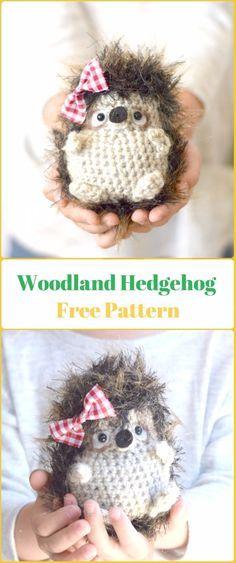 Amigurumi Crochet Woodland Hedgehog Free Pattern - Crochet Hedgehog Free Patterns