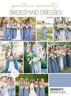 Pantone Serenity bridesmaid dresses | SouthBound Bride | http://www.southboundbride.com/pantone-serenity-bridesmaid-dresses