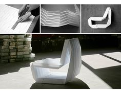 Foldable pleated chair