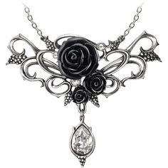Alchemy Gothic Bacchanal Rose Pendant (400 VEF) ❤ liked on Polyvore featuring jewelry, necklaces, accessories, goth, gothic pendant, rose jewelry, goth jewelry, gothic jewellery and gothic jewelry