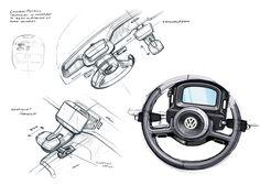 VW Up! Lite Interior Design Sketches
