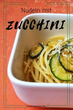 Spaghetti mit Zucchini - Another! Zucchini Pasta, Vegetables, Ethnic Recipes, Parmesan, Foodblogger, Food Blogs, Easy Peasy, Pisa, Germany