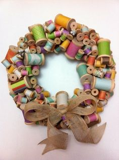 would love to make this with my Mother and grandmothers old tthread spools to [hang in my sewing room.