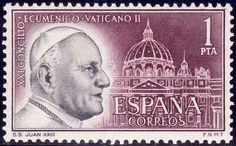 """Sellos - Países - España - SEGUNDO CENTENARIO - 1962 - 1480 - CONCILIO ECUMÉNICO VATICANO II \"""" JUAN XXIII \"""" - **"""