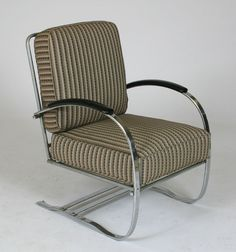 Wolfgang Hoffman for Howell Machine Age chrome springer chair;